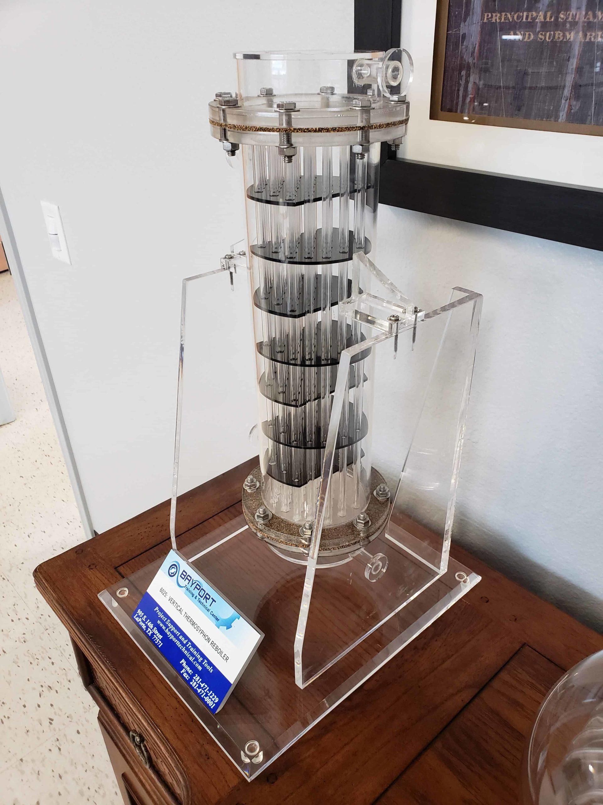 Bayport Technical | 115-VTR Vertical Thermosyphon Reboiler Model - Acrylic