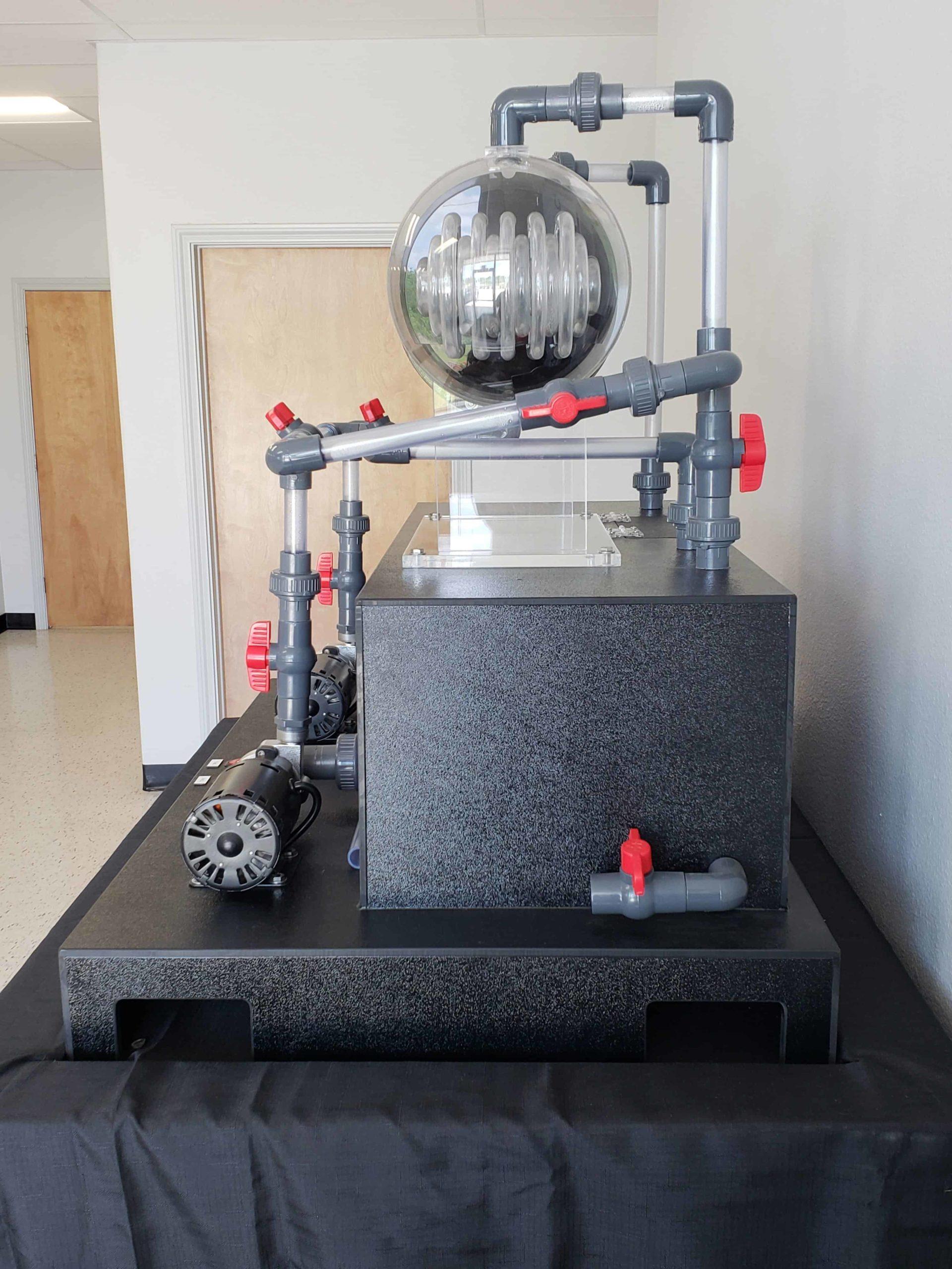 Bayport Technical   U-Tube Heat Exchanger Circulation Trainer with Backwash