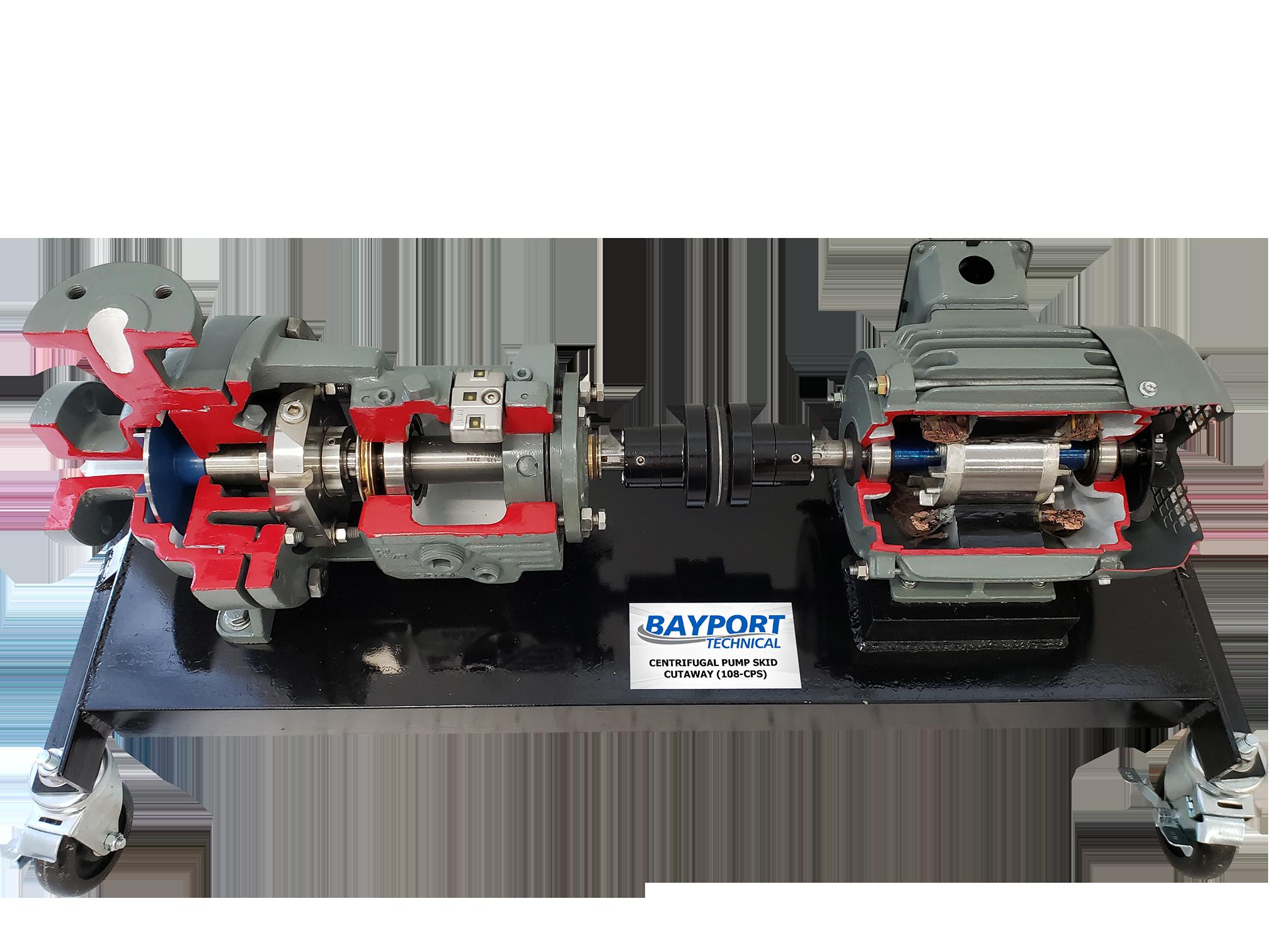 Bayport Technical - Centrifugal Pump Skid Cutaway 108-CPS